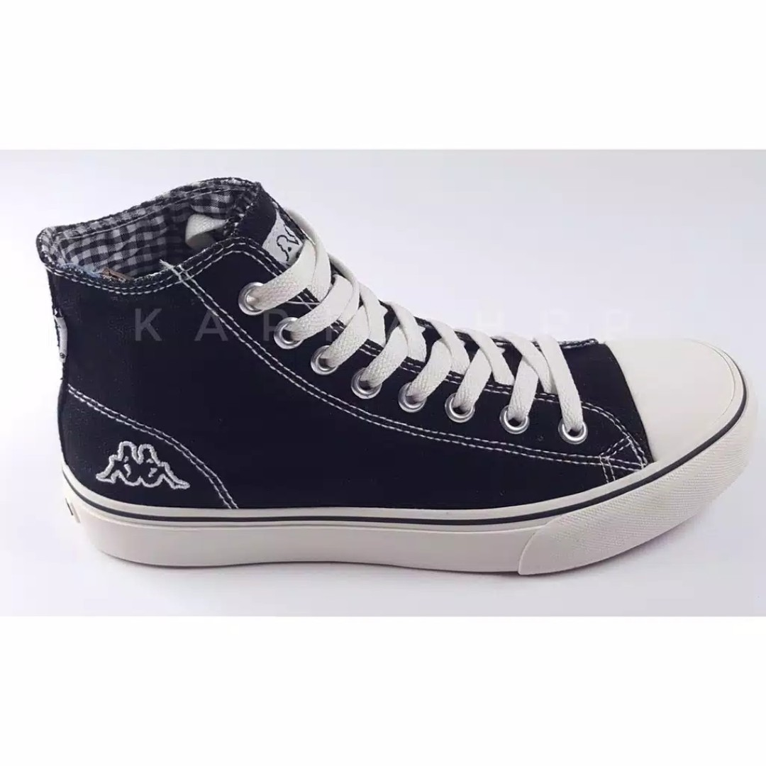 de7488b878 Kappa Orion Hi Cut Canvas Sneakers - Black, Women's Fashion, Women's Shoes  on Carousell