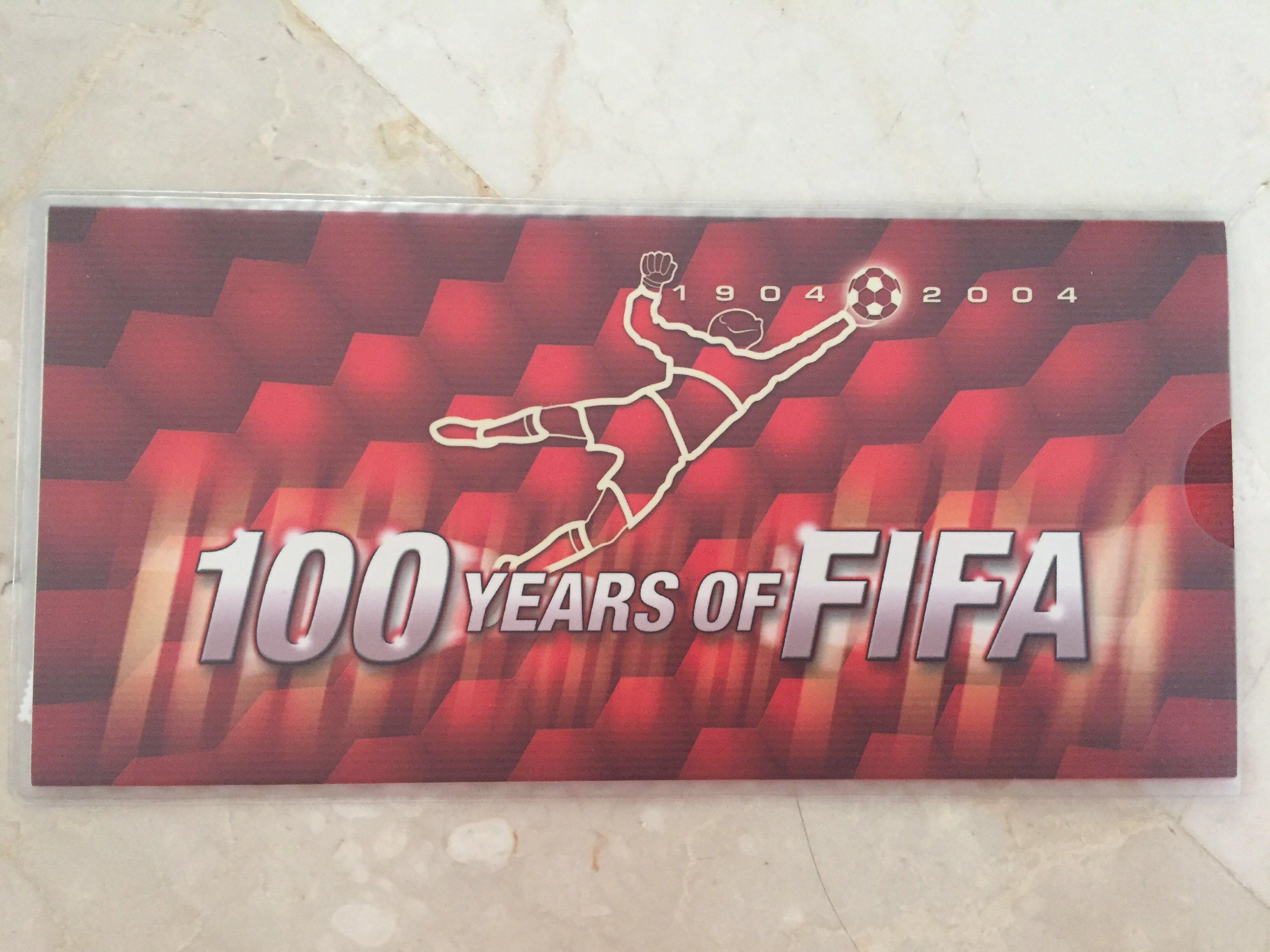 Limited Edition 100 years of FIFA collectible stamps