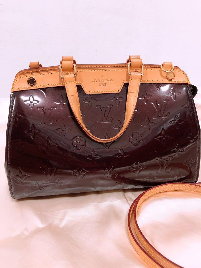 7329f19985ee Louis Vuitton Amarante Monogram Vernis Brea MM Bag