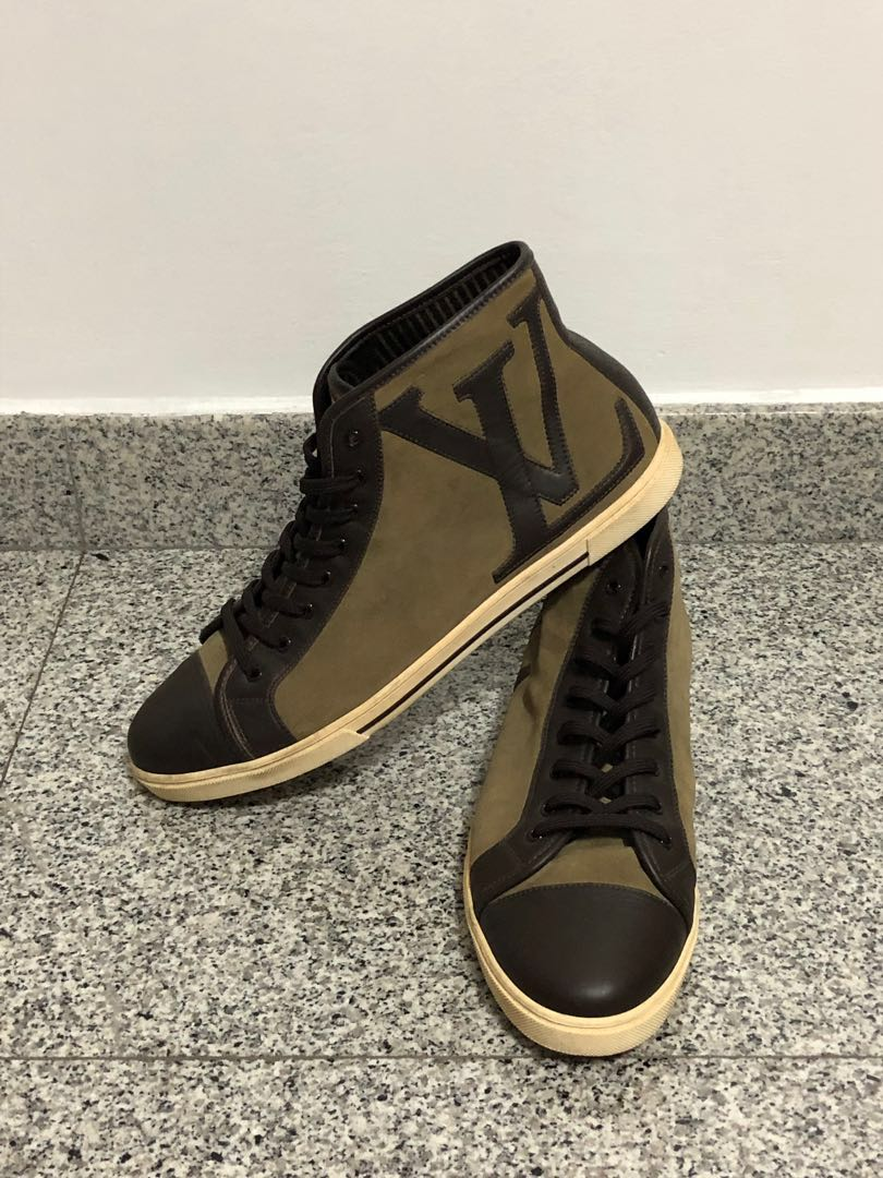 75cfdcbbdfe7 Louis Vuitton High Cut Ankle Punchy Sneaker Shoes size 9.5