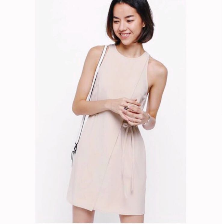 0fca56d633b Love Bonito Jayde Foldover Dress (Nude)