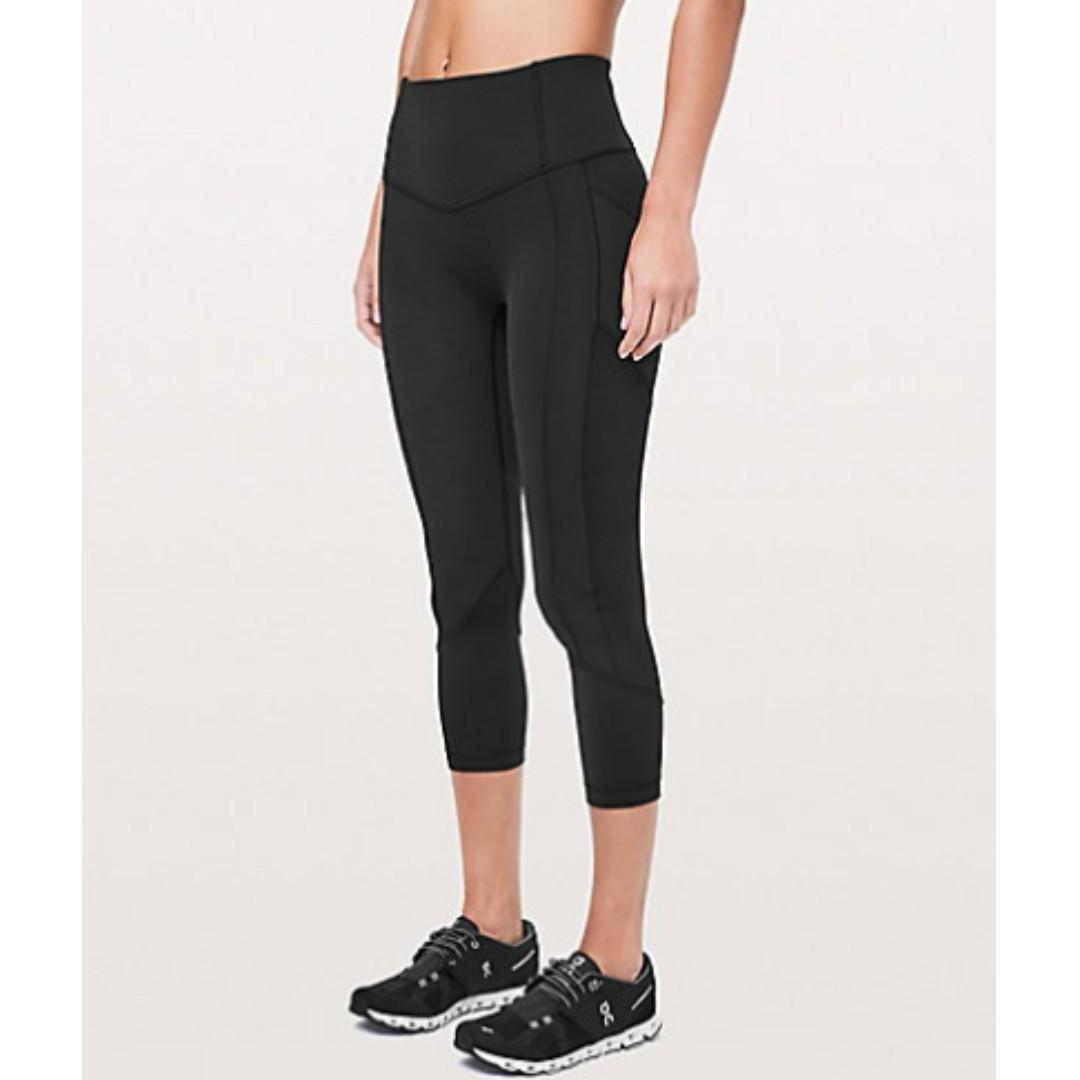 Lululemon 'All The Right Places Crop II' Tights. Black, Size 10