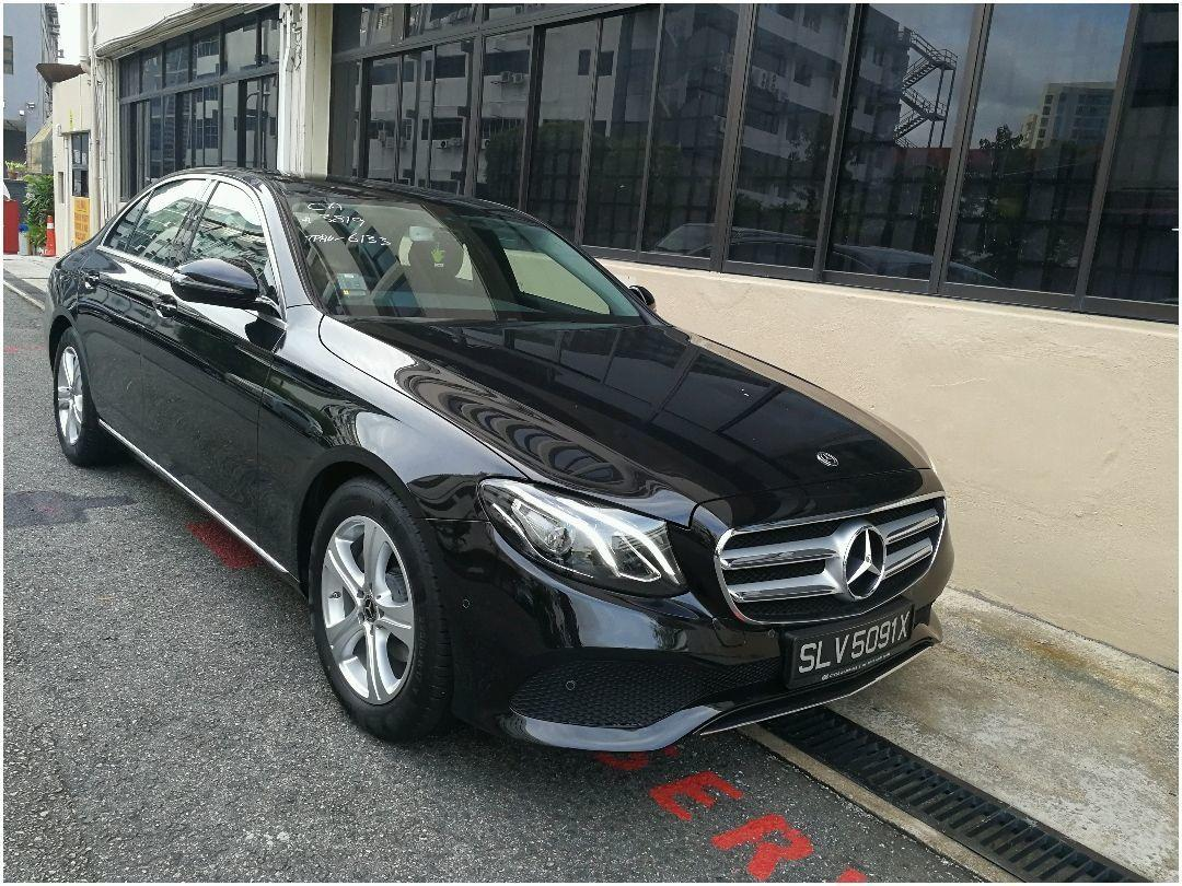 MERCEDES BENZ E220D FOR LIMO AND GRAB USE.