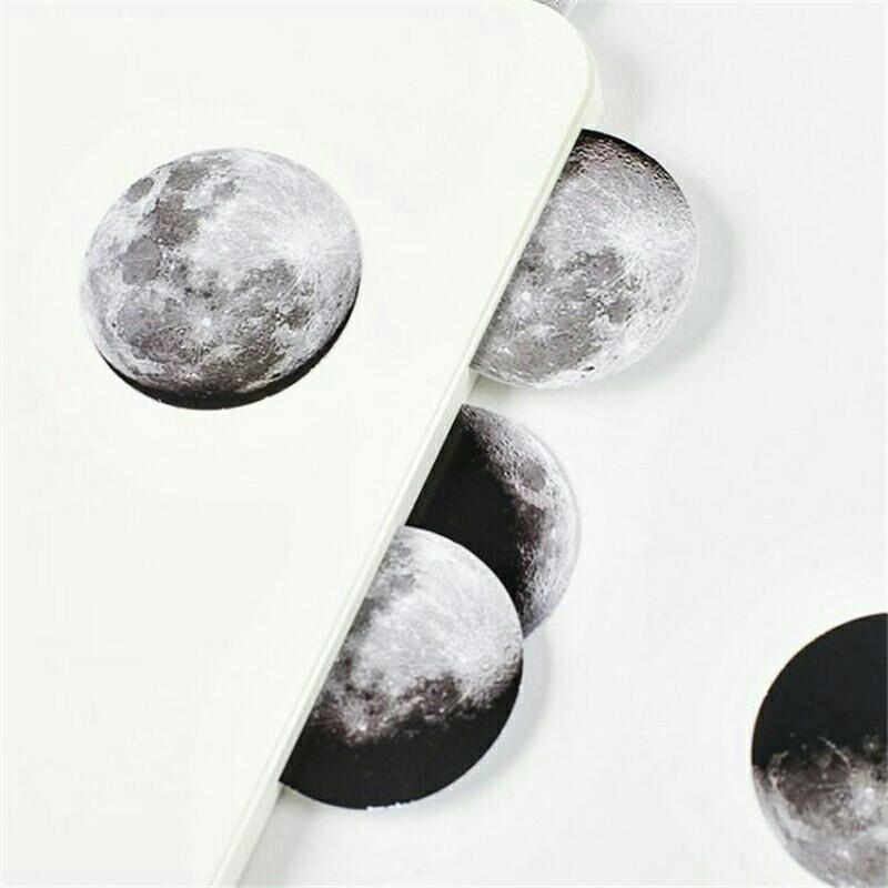 Moon Phases Stickers for DIY Bullet Journal/Planner