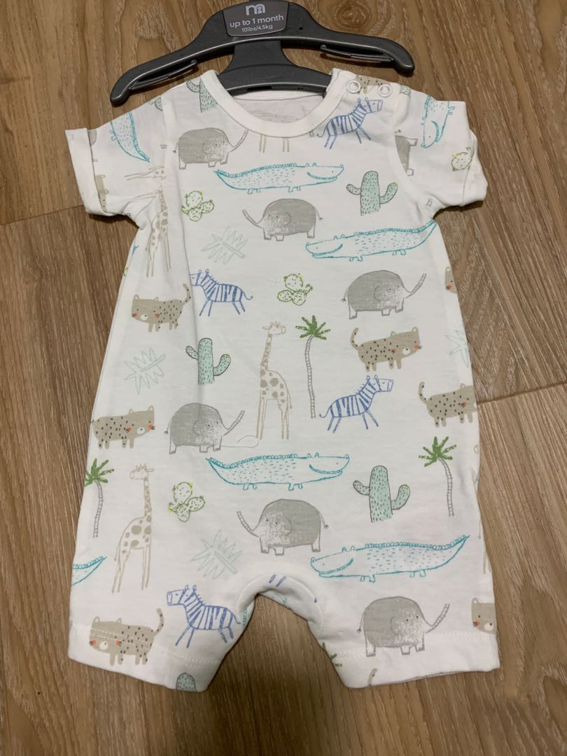 Baby & Toddler Clothing Mothercare Baby Boy Upto 1 Month Romper New With Tags