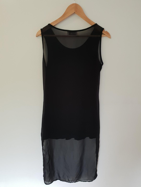 MUUI SHEER BLACK TSHIRT DRESS