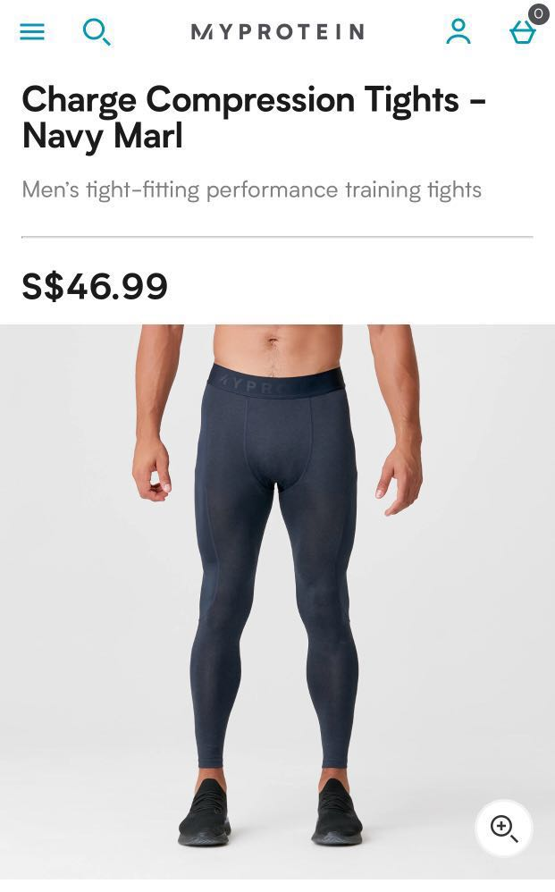 888a3476d1 Myprotein Charge Compression Tights in Marl Navy S