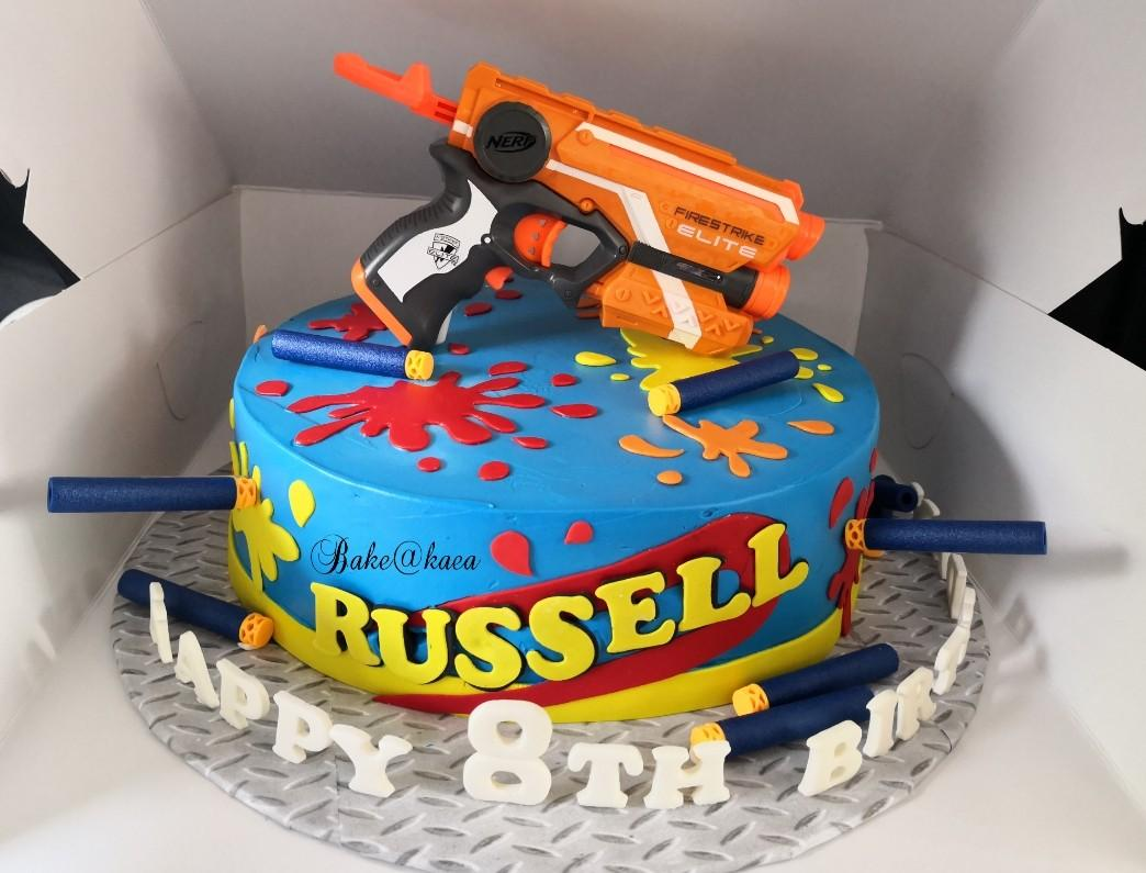 Excellent Nerf Gun Fresh Cream Cake Food Drinks Baked Goods On Carousell Personalised Birthday Cards Veneteletsinfo