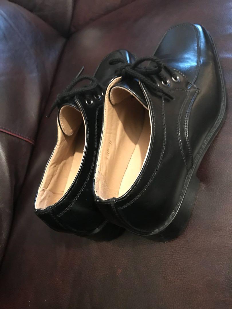 New boys black shoes