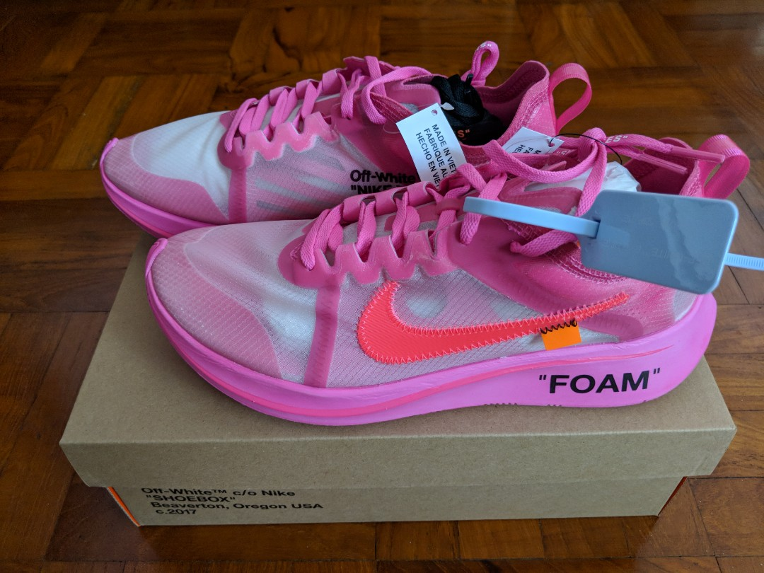5fb02fe95ad5 Nike x Off-White Zoom Fly Pink US8 US9.5 US10 US11