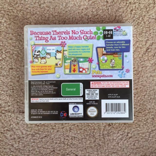 Nintendo DS Game: Hamsterz
