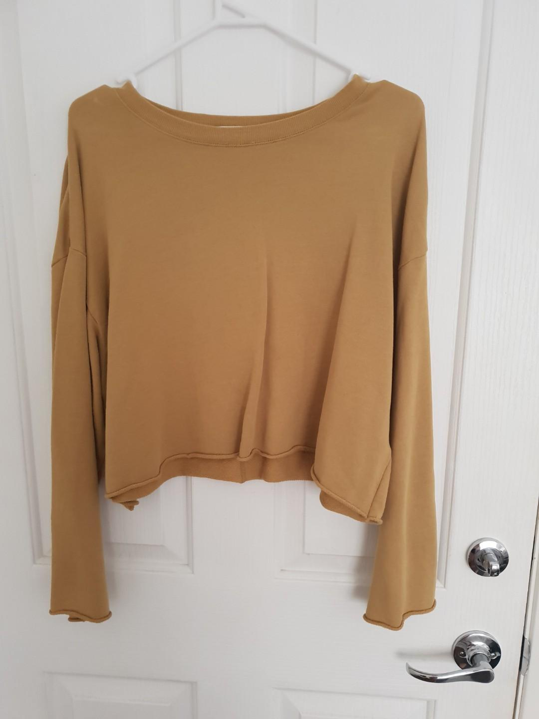 Nude Lucy mustard cropped jumper