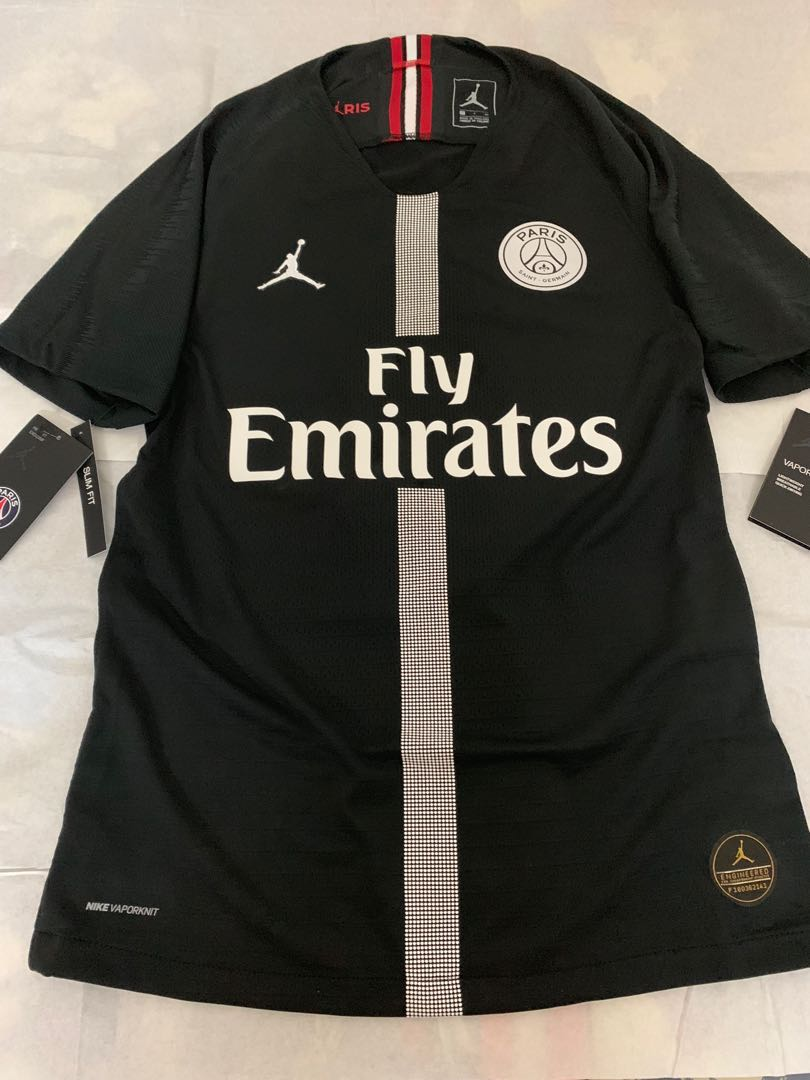 f1025e6919a3 Official Authentic 2018-2019 PSG X Jordan Vapor Match 3rd Champions ...