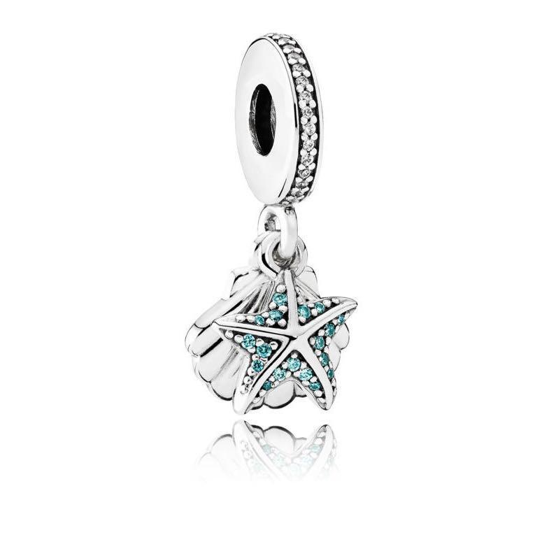 a1619e3e3 Pandora Tropical Starfish & Sea Shell Dangle Charm, Women's Fashion ...
