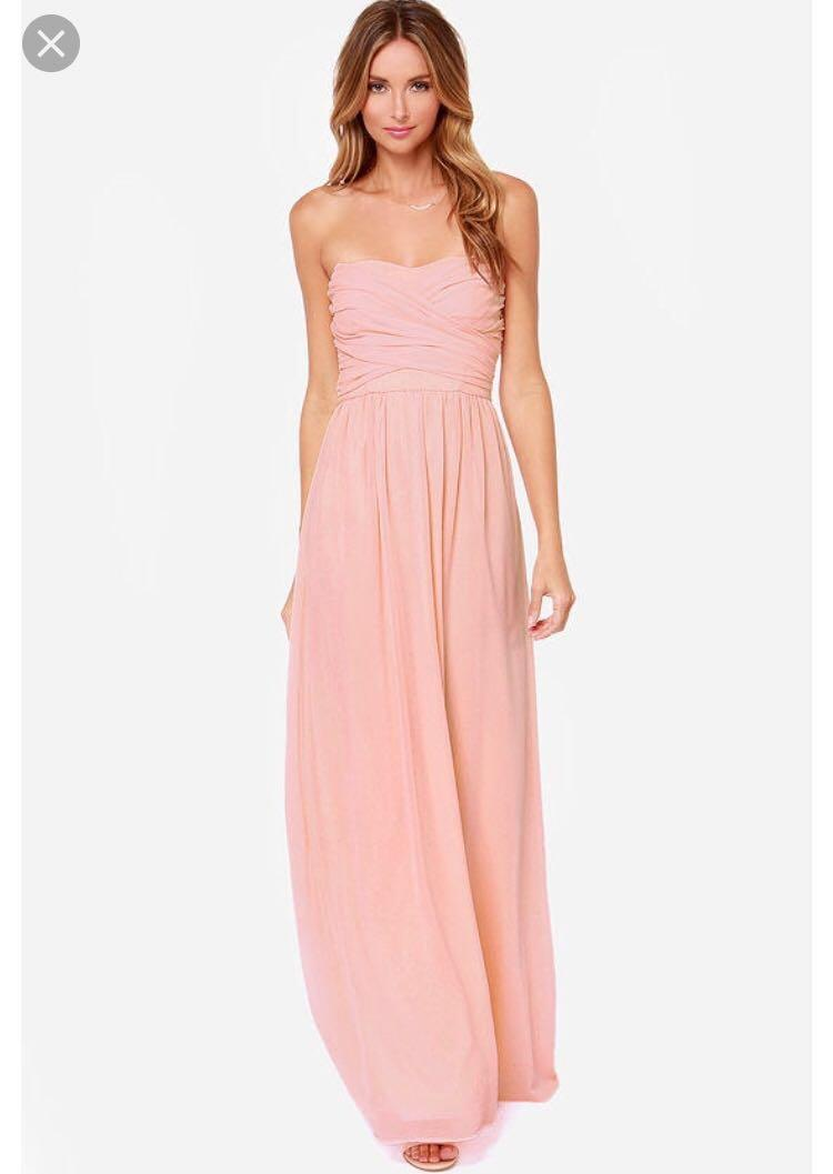 Petite formal dress - pink peach - size 10