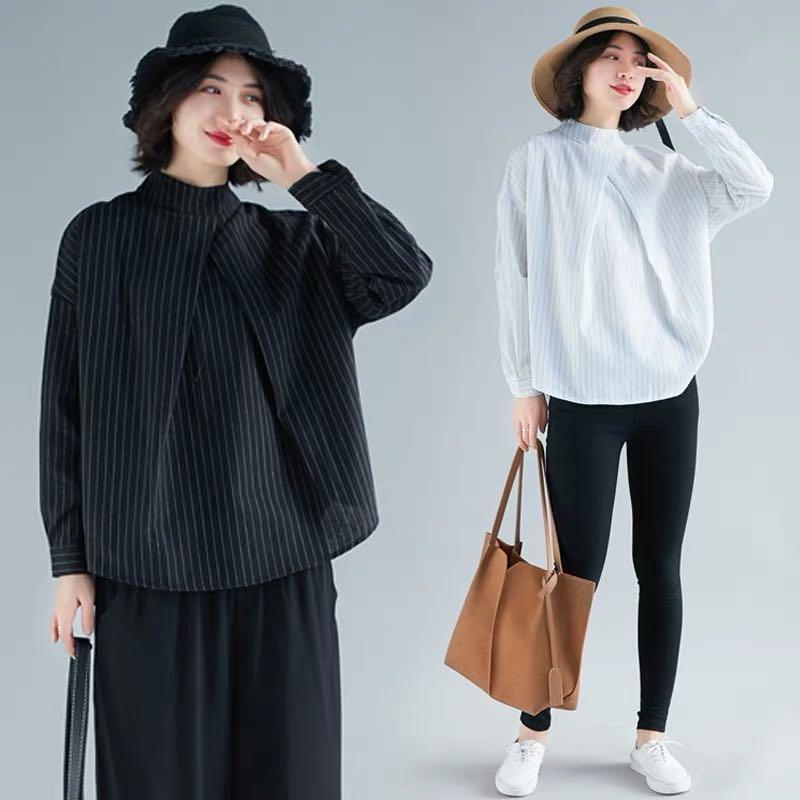 0e38a1229e847 Plus size loose tops women s hipster striped shirt