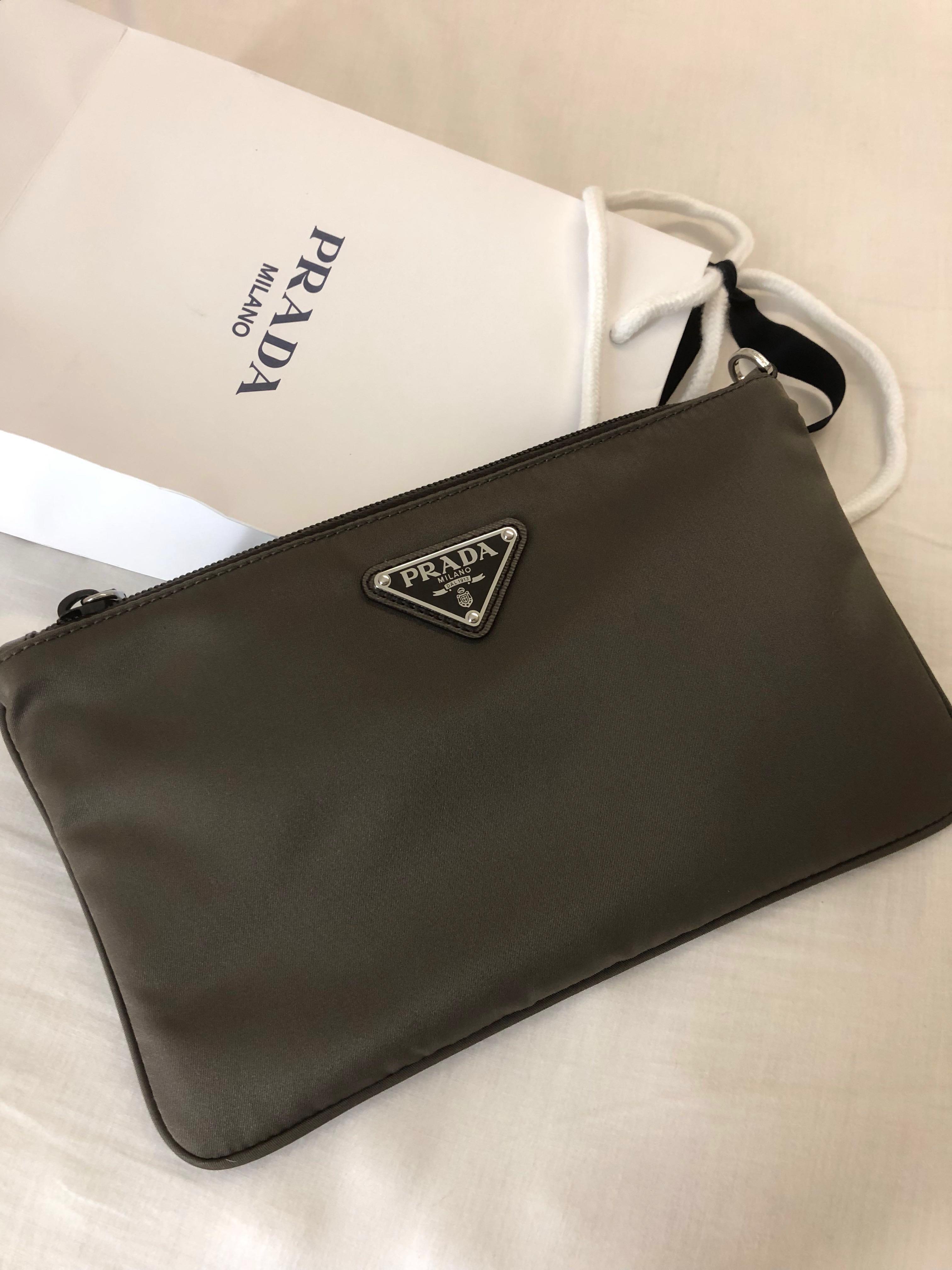 770c6c75c859 Prada Nylon Clutch, Luxury, Bags & Wallets, Clutches on Carousell