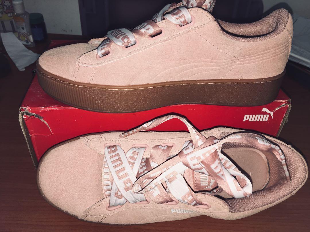 Puma Vikky Platform Shoes (soft foam