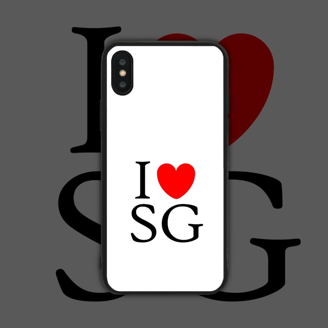 Ready Stock] I Love SG Phone Case, Mobile Phones & Tablets