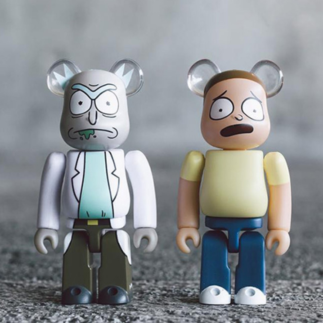 79242bb4 Rick and Morty x Bait 100% Bearbrick, Toys & Games, Bricks ...