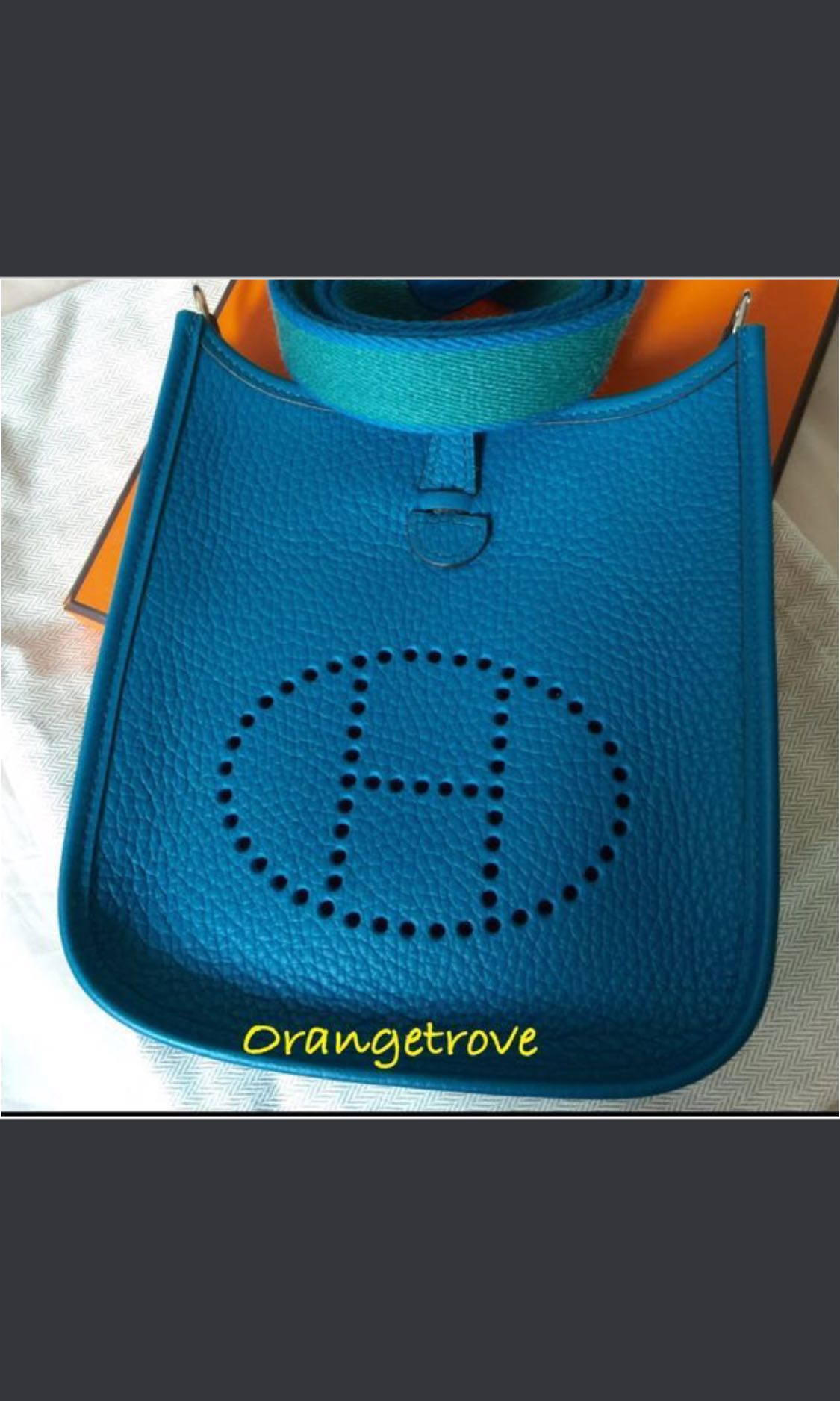 925e072e8d52 SALE!!!! Hermes Mini Evelyne Tpm In Bleu Izmir. PM FOR UNBELIEVABLE ...