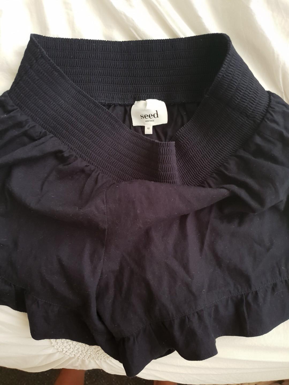 Seed navy blue frill shorts