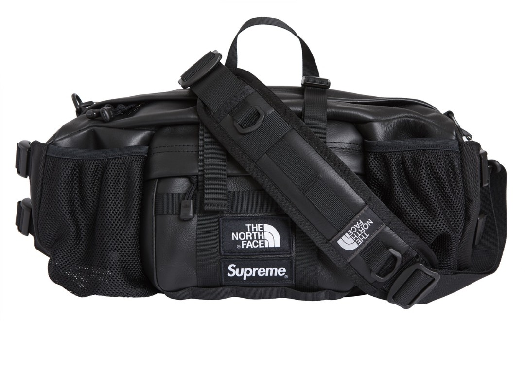 bccacf3b3720 Supreme x The North Face leather Mountain Waist Bag