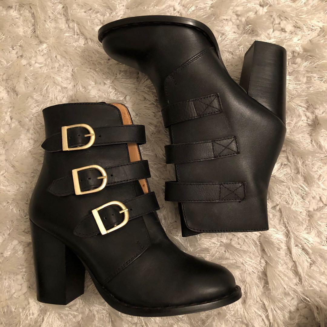 Topshop leather ankle boots brand new