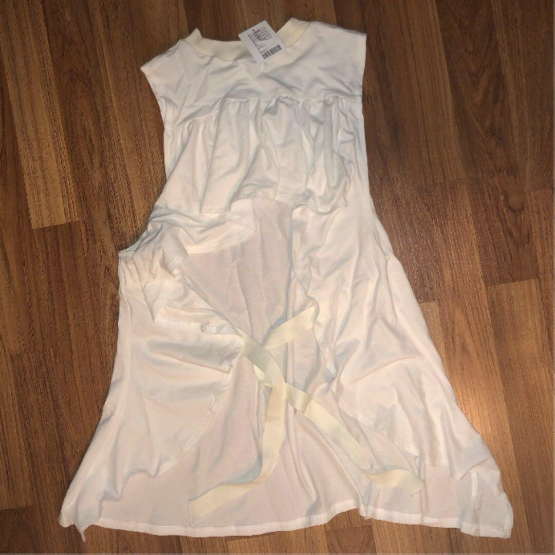 Urban Outfitters White Open Back Top