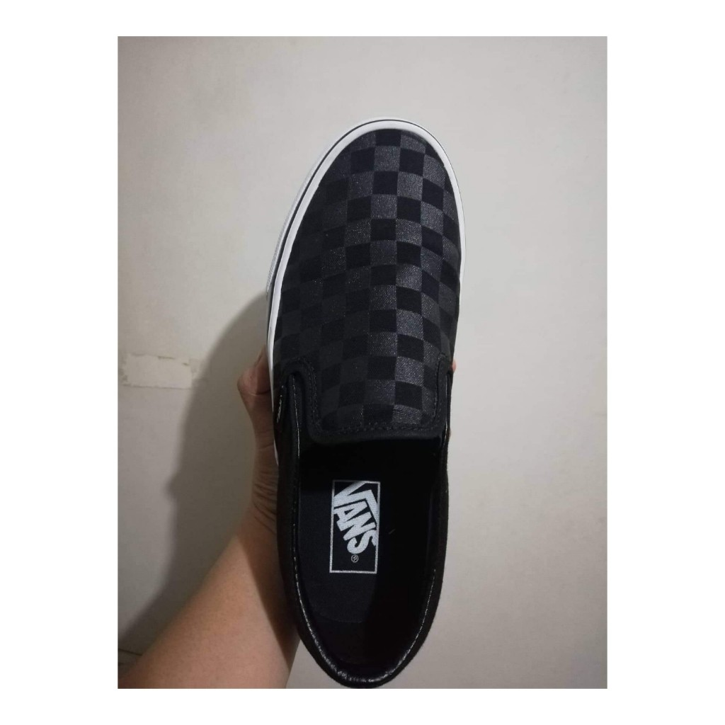 6a526b94a4 Vans Checkerboard black classic slip-on
