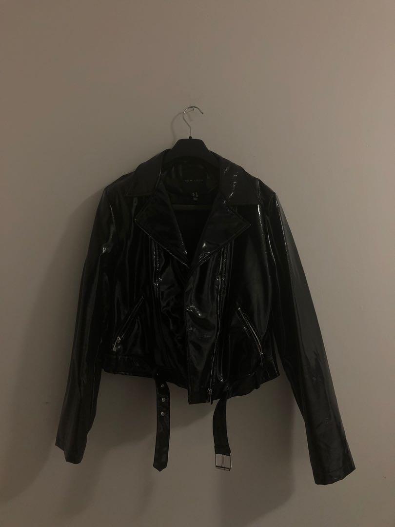 Vinyl Biker Jacket