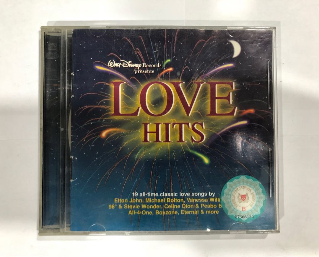 Walt Disney Records Classic Love Hits Music Vcd Album Music