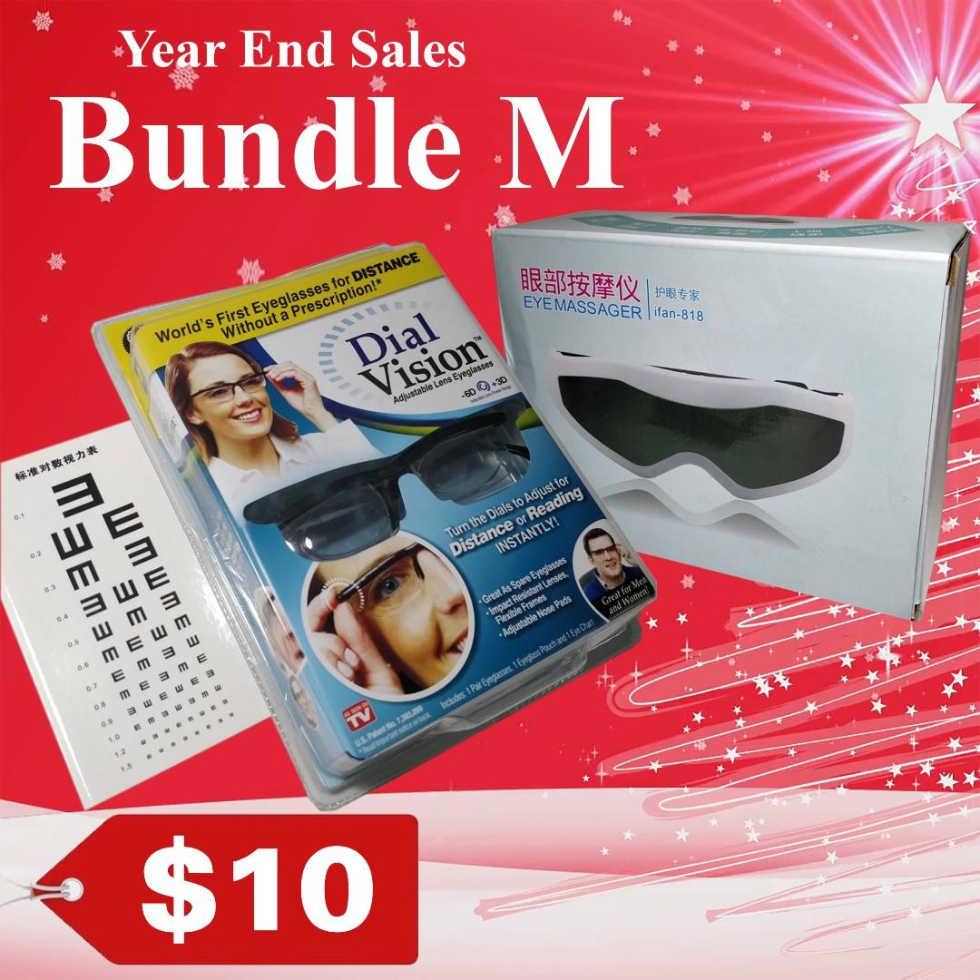 73c975f86 Year End Sales [Bundle M] Dial Vision Eyeglasses Eye Massager Lao ...