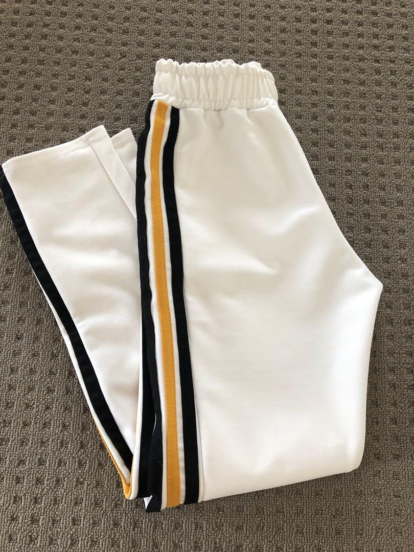 Yellow & Black Side Stripe Pants
