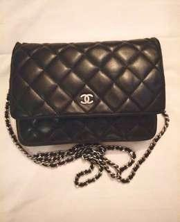 🎀Auth Chanel Sling bag / Wallet on Chain SHW with receipt🎀