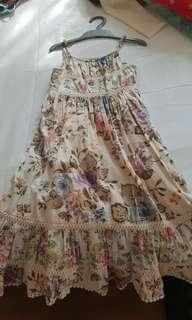 Girls' patchwork long dress