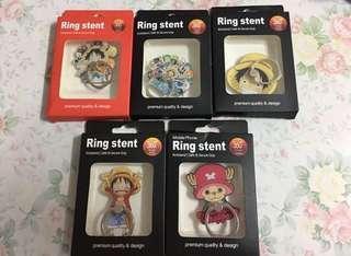 ✨買二送一 海賊王 路飛 索柏喬巴 手機指環 手機扣 Ring Stent