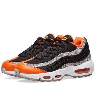 aa2fe6ebf37b Nike Air Max 95  Safari  Greatest Hits Pack Black Granite Orange