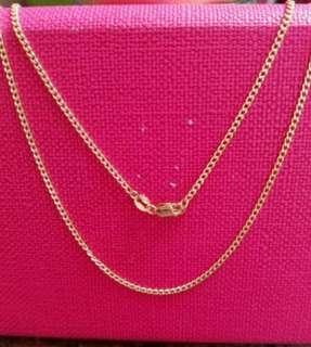"18K750 Yellow Gold Necklace22""long❤New❤Italy Made 18K750 黃金意大利頸鍊"