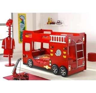 Fire Engine/Truck Double Decker Bunk Bed For Kids/Children