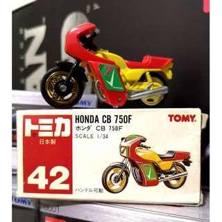 RED TOMY TOMICA NO.42 HONDA CB 750F - RARE