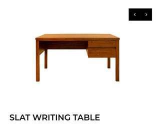 Scanteak Writing Table 76cm Wx 135cm L x 74cm H