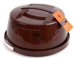塑料 手提透明 圓型 保鮮 生日蛋糕盒 (可供6-8吋蛋糕使用) * 最後一件 原價$98特價$80