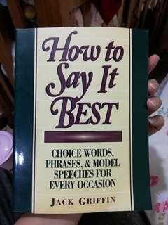 書名 how to say it best
