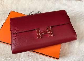 全新Hermes Portefeuille Constance wallet