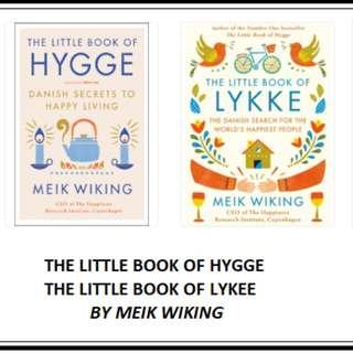 Best ebooks about Happy Living: The Little Book of Hygge and The Little Book of Lykke