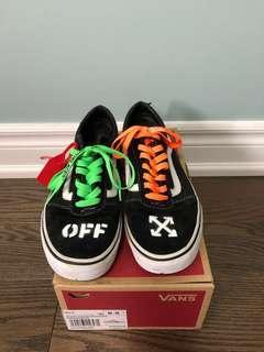 "Custom ""Off-White"" Old Skool Vans"