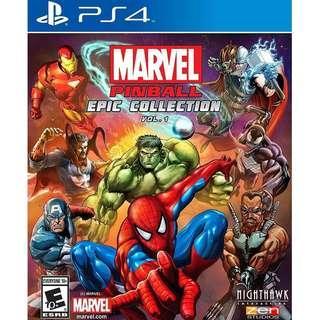 PS4 MARVEL PINBALL EPIC COLLECTION (R1-USA)