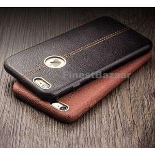 iPhone 10 X 6 8 7 + Genuine Rugged Thin Leather Case Cover