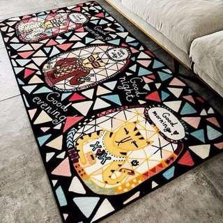 創意 個性 可愛喵先生 廚房 睡房 梳化 窗台 露台 防滑 地毯 * 部分尺寸 有現貨